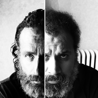 Andrew Lincoln has the same beard as William Fuentes