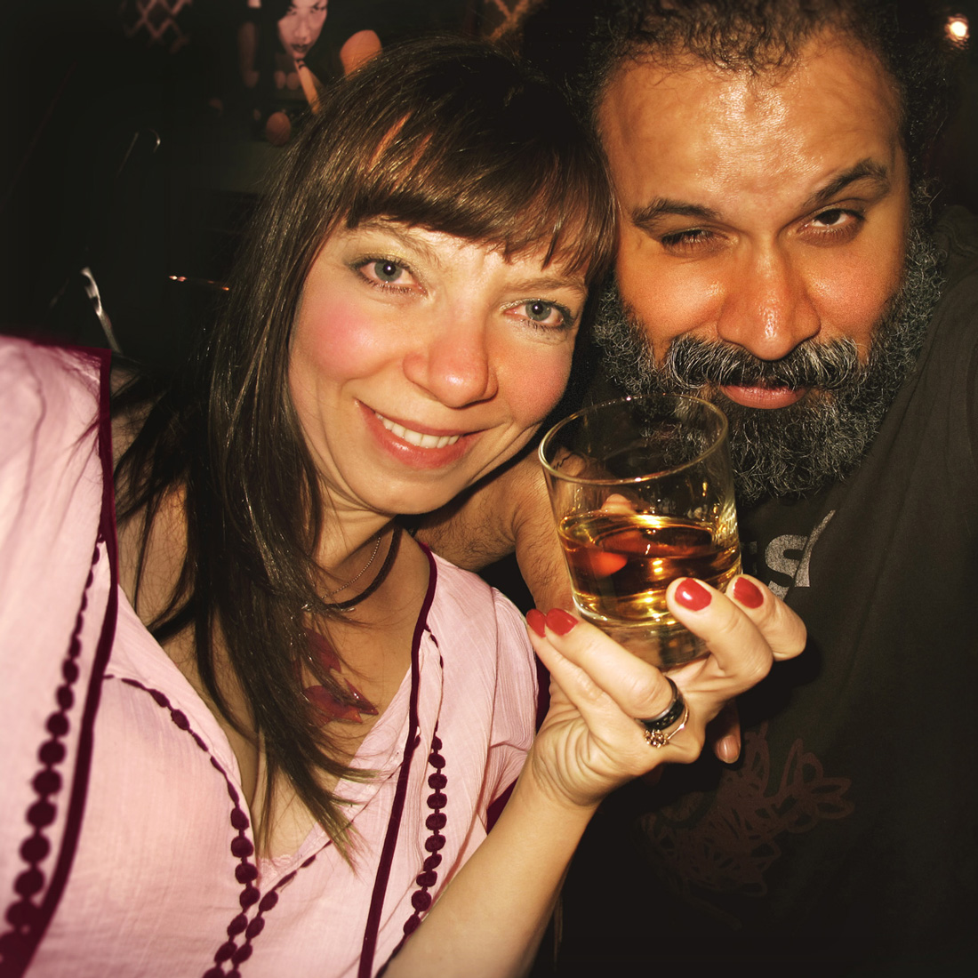 Agnieszka Drapala-Perrotta and William Fuentes are Whisky Wolves under the full moon