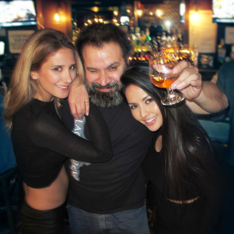 Neslihan Gürel, William Fuentes and Shanelle Loraine hanging out at Amsterdam Billiards + Bar