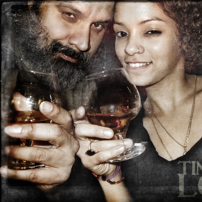 William Fuentes Drinking Scotch with Yomaylin