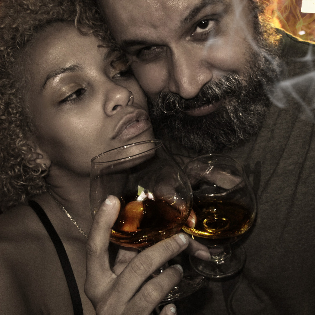 William Fuentes and Yomaylin Aylin Feliz like to drink the Fire water know as Scotch