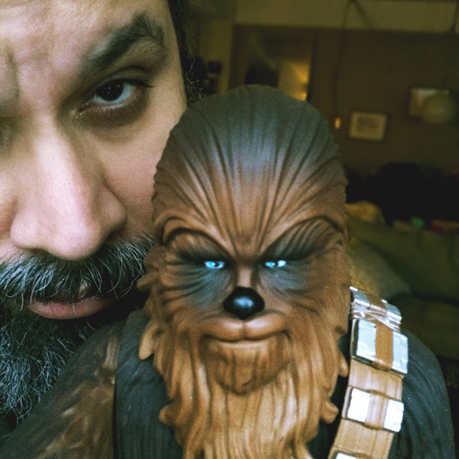 "Chewbacca, nicknamed ""Chewie"", is a fictional character in the Star Wars franchise. He is a Wookiee"